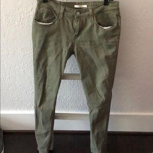 Olive green Levi's jeans, size 30